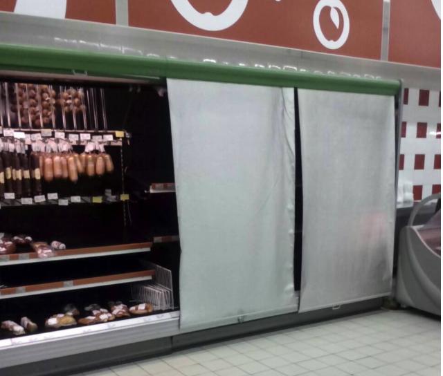 В Керченских супермаркетах пустые полки завешивают баннерами