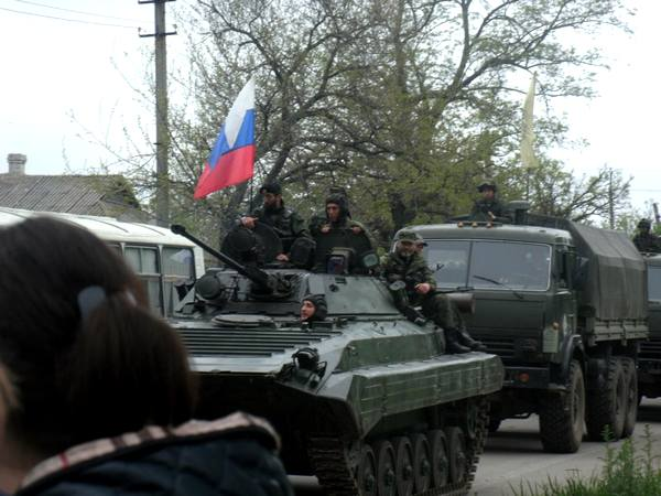 Российские военные на Донбассе «которых там нет»