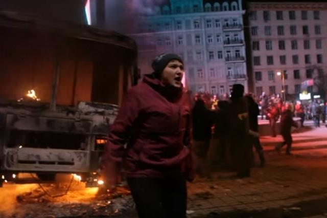 В Сеть попали доказательства участия Надежды Савченко в разгоне Евромайдана