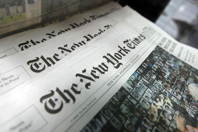 Газета The New York Times вышла с заголовком о гражданской войне в Украине, но потом изменила его