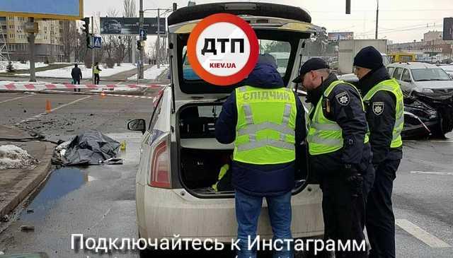 Появились кадры жуткого смертельного ДТП в Киеве
