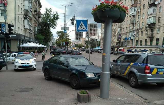 В центре Киева расстреляли человека