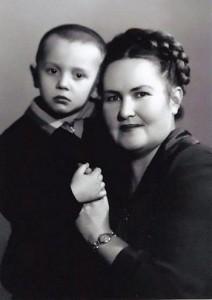 Лёня Черновецкий с мамой